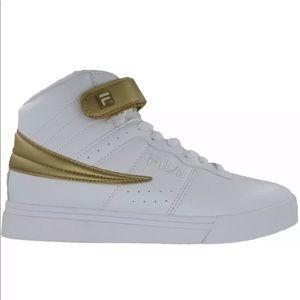 FILA Women's Vulc 13 Color Pop Hi Top Sneaker Gold